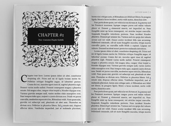 book layout templates